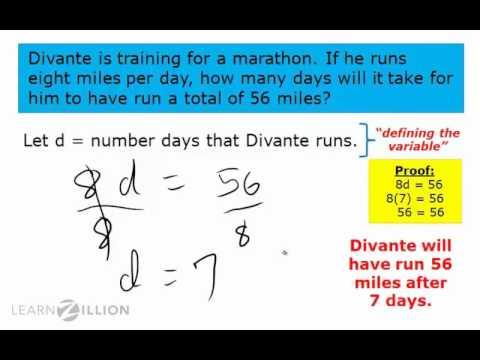 Write multiplication and division problems as algebraic expressions - 6.EE.7