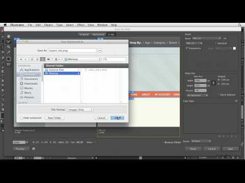 Illustrator: How to export an HTML file | lynda.com tutorial