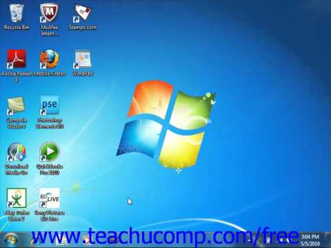 Windows 7 Tutorial Pinning Items to the Taskbar/Quick Launch Toolbar Microsoft Training Lesson 2.4