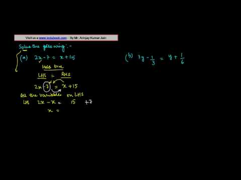 Solving the Linear Equation