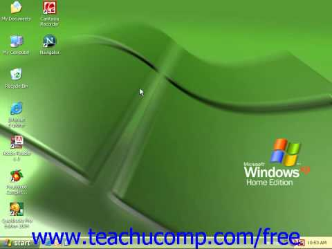 Windows XP Tutorial Using the Internet Microsoft Training Lesson 7.1