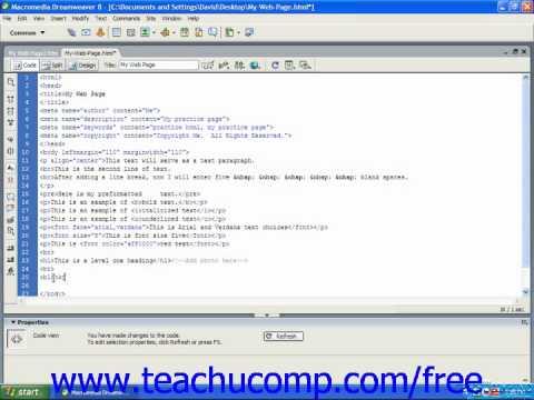 HTML Tutorial Block Quotes Training Lesson 5.3
