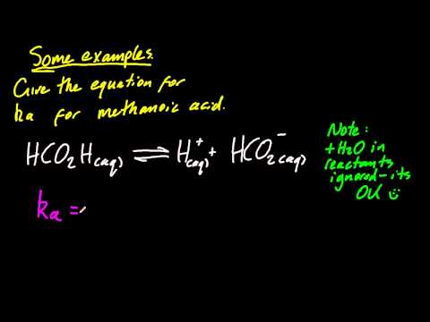 18.1.4 State the equation for reaction of weak acid/base in water,and express Ka,Kb IB Chemistry HL