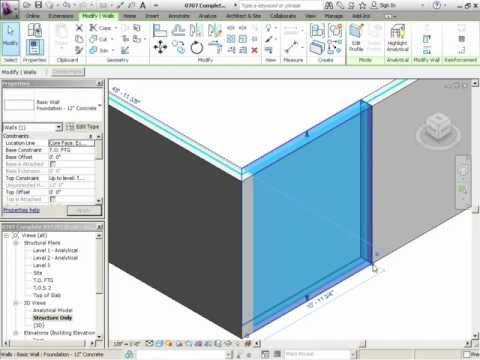 InfiniteSkills Tutorial | Revit Structure 2012 Training - Wall Joins