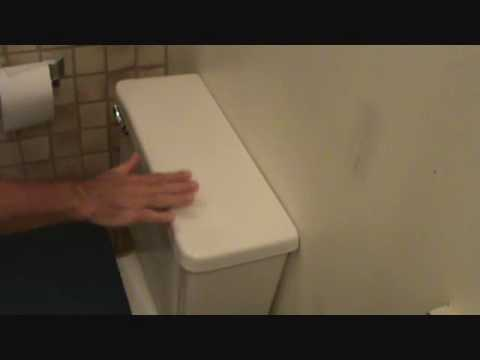 How to replace a toilet handle: Installing the toilet handle