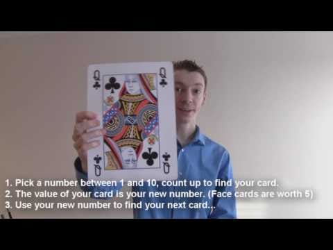 Maths Card Trick:  Last to be chosen