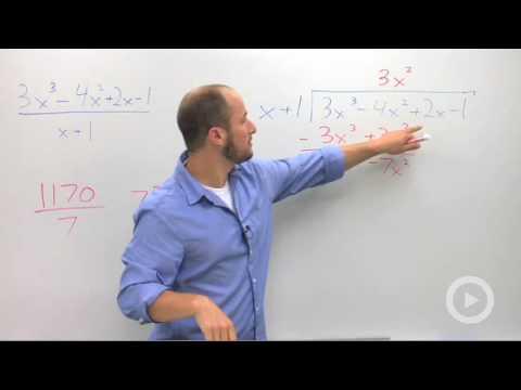 Algebra 2 - Dividing Polynomials using Long Division