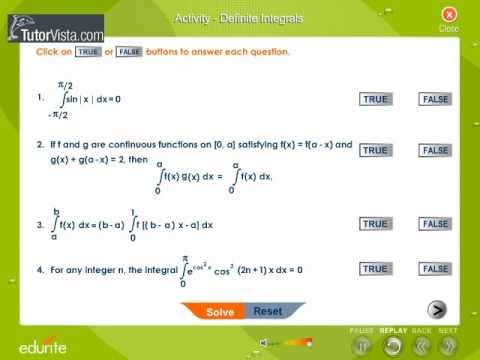 Activity Definite Integrals