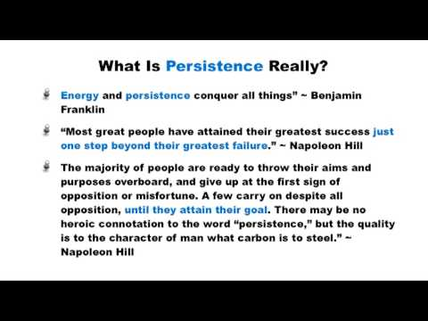 The Focussed 4-Step Success Formula - Part 4: Be Persistant