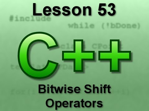 C++ Console Lesson 53: Bitwise Shift Operators
