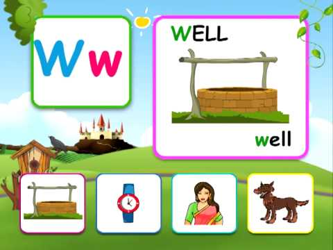 Alphabet reading for kids - W