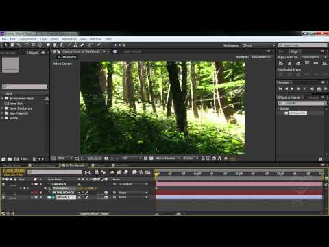 After Effects CS6 - 3D Environment Map