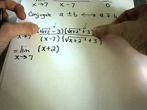 Calculating a Limit by Multiplying by a Conjugate