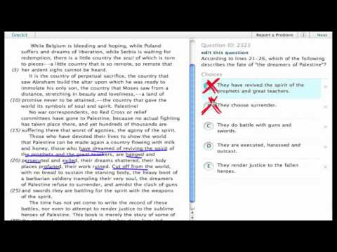 Grockit SAT Reading - Passage Based Reading: Question 2323