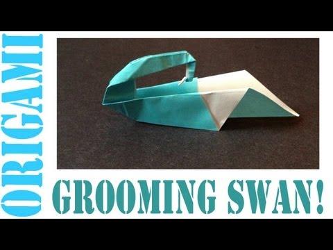 Origami Daily - 226: Grooming Swan - TCGames [HD]