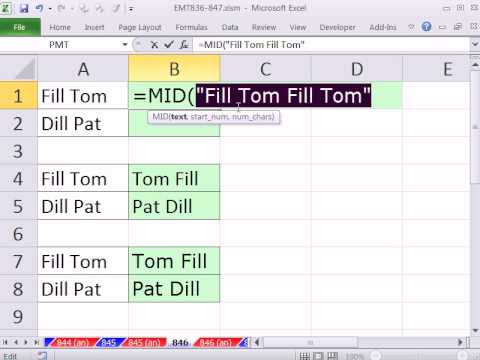 Excel Magic Trick 846: Formula To Reverse First & Last Name When Names Separated by A Space