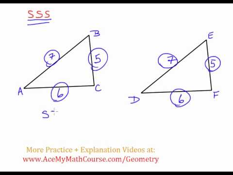 Geometry - Triangle Congruency: SSS (Side Side Side)