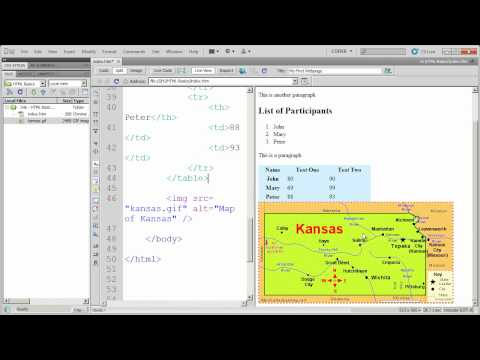 Fundamentals of HTML in Dreamweaver CS5 - Part 6