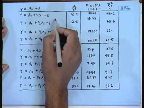 Mod-01 Lec-10 Lecture-10-Selecting the BEST Regression model