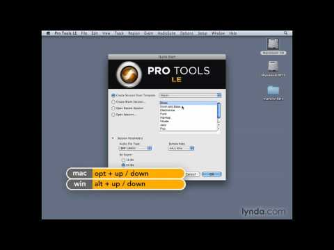 Pro Tools: Starting up Pro Tools 8 with the Quick Start dialog | lynda.com