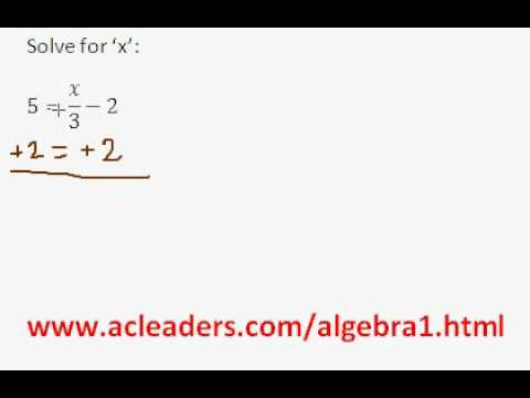 Algebra 1 - Solving Equations (pt. 2)
