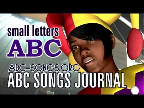 Small letters ABC Song Ms. Clowness circus tent class, lesson 4 by ABC songs journal downloads