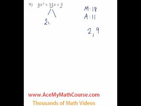 Polynomials - Factoring Trinomials (More Challenging) #9