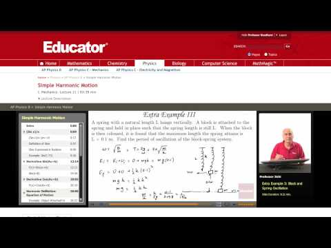 Physics: Simple Harmonic Motion (Block and Spring)