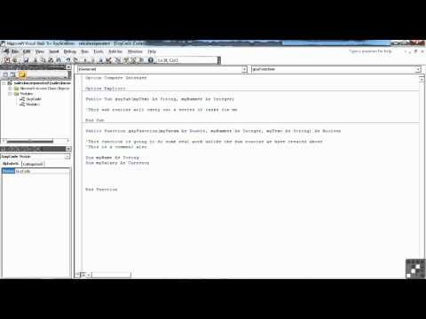 VBA for Access Tutorial | How to Declare Variables and Constants | InfiniteSkills