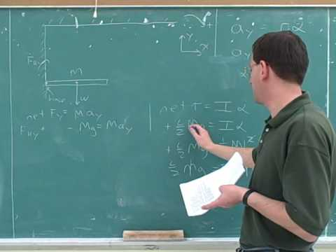 Rotational statics and dynamics problems (3)