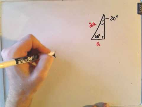 Special Right Triangles in Geometry: 45-45-90 and 30-60-90