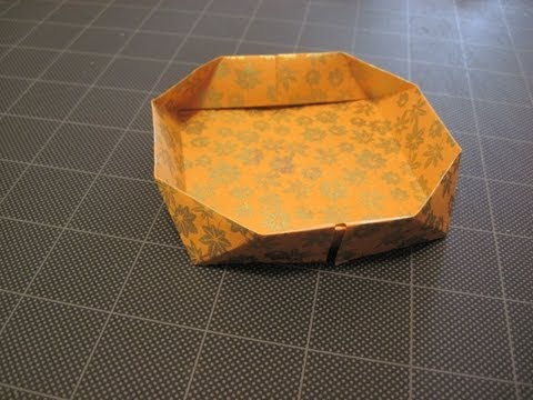 Origami bevel edge dish / box