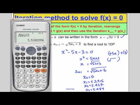 Numerical Methods - Iteration (L9) Core 3 Edexcel A-Level Maths