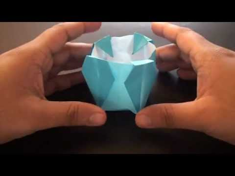 Origami Daily - 275 Flower Vase (Container) - TCGames [HD]