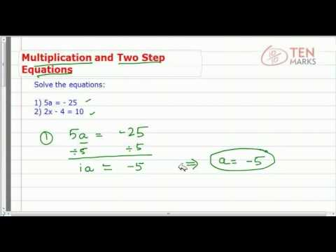 Solve Two Step Multiplication Equations