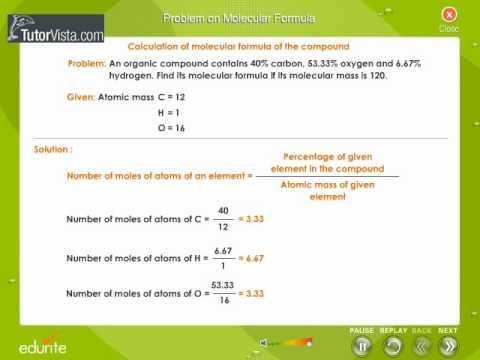 Problem On Molecular Formula