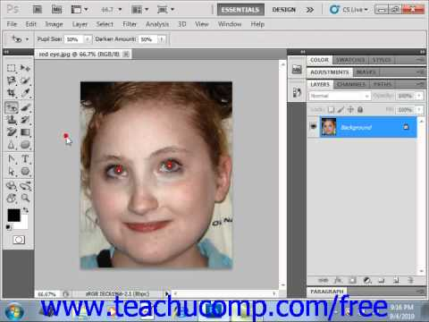 Photoshop CS5 Tutorial The Red Eye Tool Adobe Training Lesson 14.20