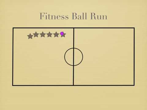 P.E. Games - Fitness Ball Run