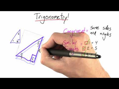 Similar Triangles Solution  - Intro to Physics - Circumference of Earth - Udacity