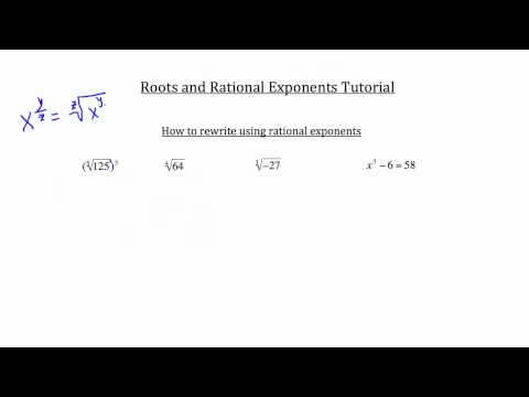 Roots and Rational Exponents