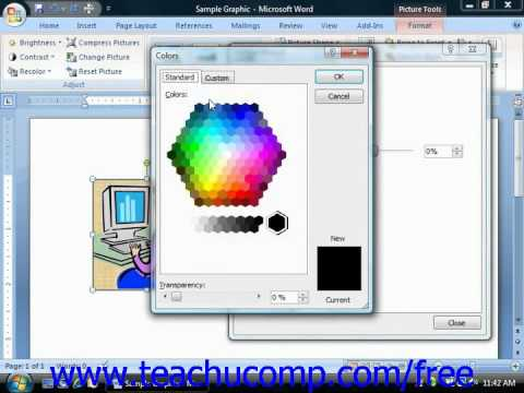 Word 2010 Tutorial The Format Picture Dialog Box-2007 Microsoft Training Lesson 12.6