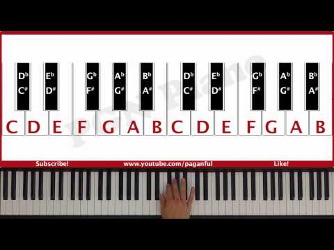♫ ORIGINAL - How To Play Piano for the Visually Impaired Lesson #1