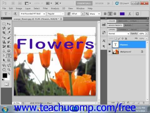Photoshop CS5 Tutorial Applying Effects to Typer Layers Adobe Training Lesson 11.6