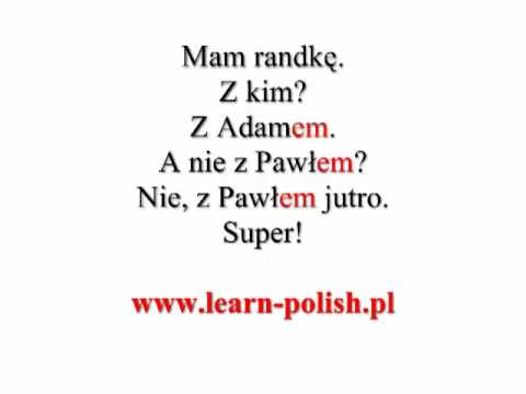 Polish grammar. Instrumental case. Singular. Masculine.