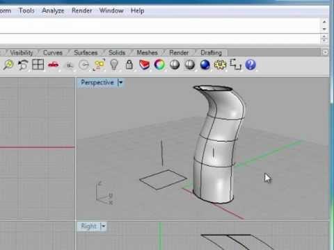 Rhino 5 Tutorial | Extruding Curves | InfiniteSkills Training