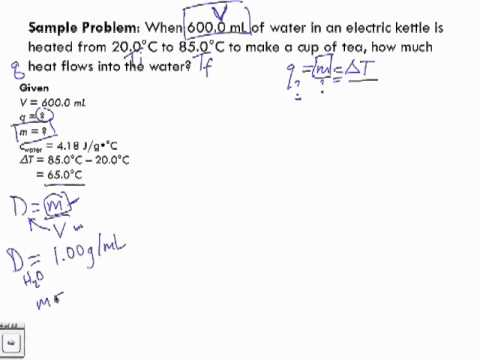 Specific Heat Capacity Sample Problem 1