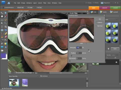 Photoshop Elements 7 Sharpening photos and Images