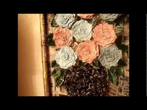 Recycling News Paper For Beautiful Home Decor