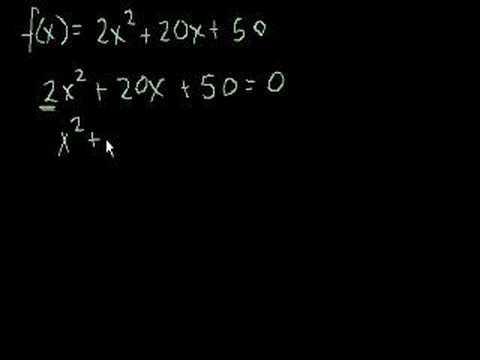 Solving a quadratic by factoring