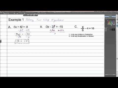Solving Two Step Equations with Integers | Algebra 1 How To